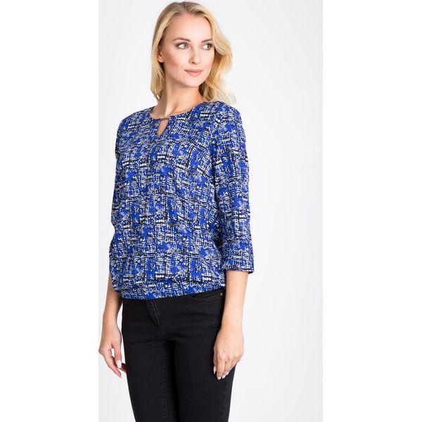 6aa2ecda1e86 Niebieska bluzka bombka QUIOSQUE - Niebieskie bluzki damskie marki QUIOSQUE