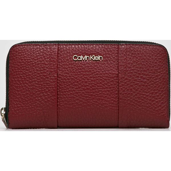6ecb46c4bdfb0 Calvin Klein - Portfel skórzany - Brązowe portfele damskie marki ...