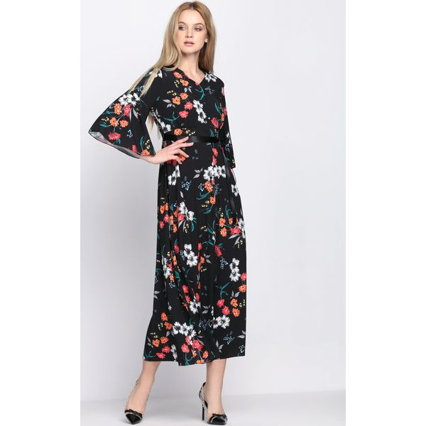 821bfb21ec Czarna Sukienka Oriental Poppy - Czarne sukienki damskie marki ...