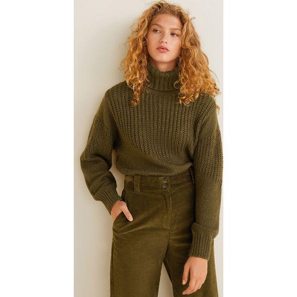 d0bf11b5de Mango - Sweter Halfen - Swetry klasyczne damskie marki Mango. Za ...