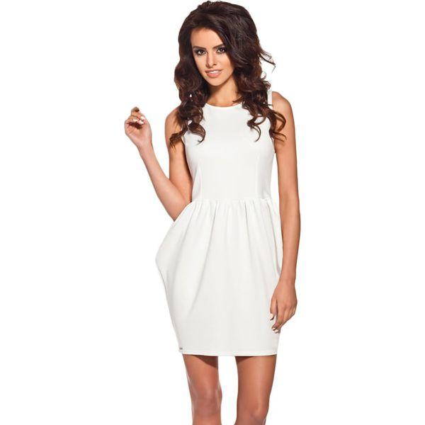 25b905673d Sukienka w kolorze kremowym - Białe sukienki damskie marki Lemoniade ...