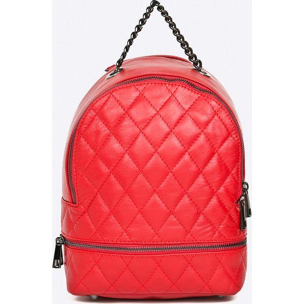 9f1ee3718f37d Answear - Plecak skórzany Stripes Vibes - Czerwone plecaki marki ...