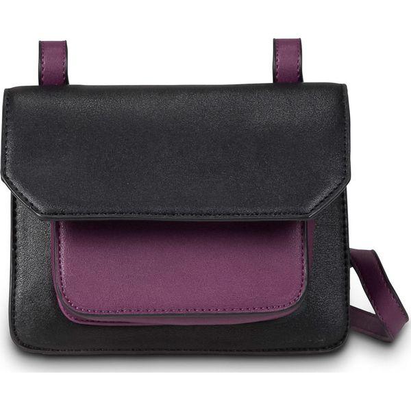 b9b550698e7f1 Mała torebka na ramię bonprix czarno-jeżynowy - Czarne torebki klasyczne damskie  marki bonprix. Za 27.99 zł. - Torebki klasyczne damskie - Torebki damskie  ...