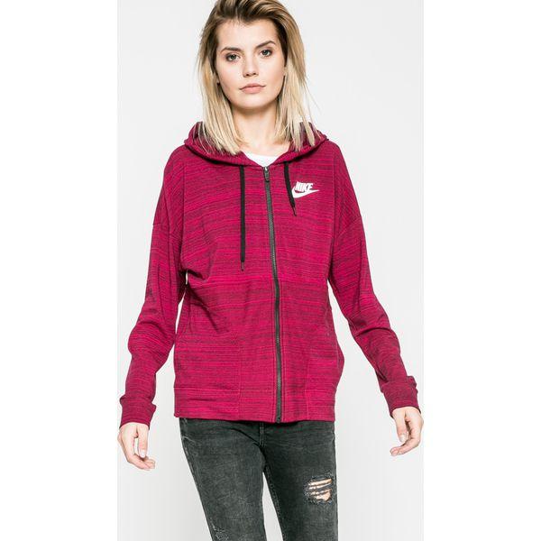 386bd456265d2e Nike Sportswear - Bluza - Czerwone bluzy damskie marki Nike ...