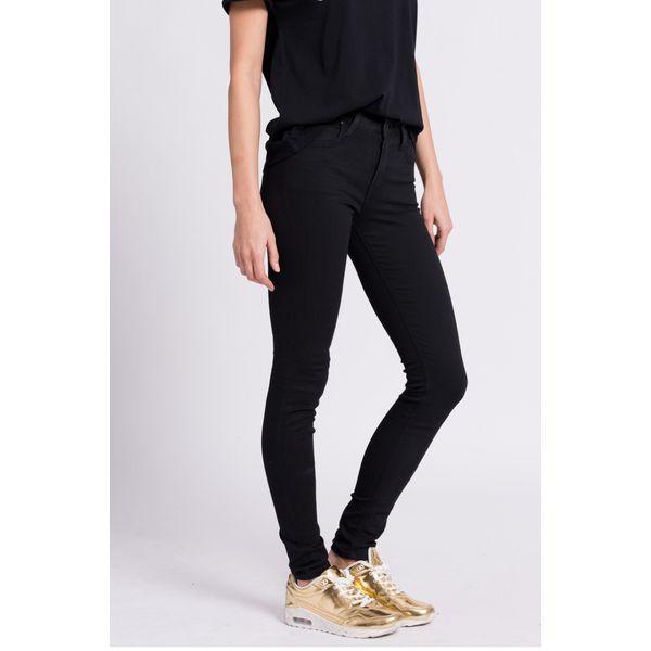 316a84db023eb7 Lee - Jeansy - Czarne jeansy damskie Lee, z bawełny. W wyprzedaży za ...