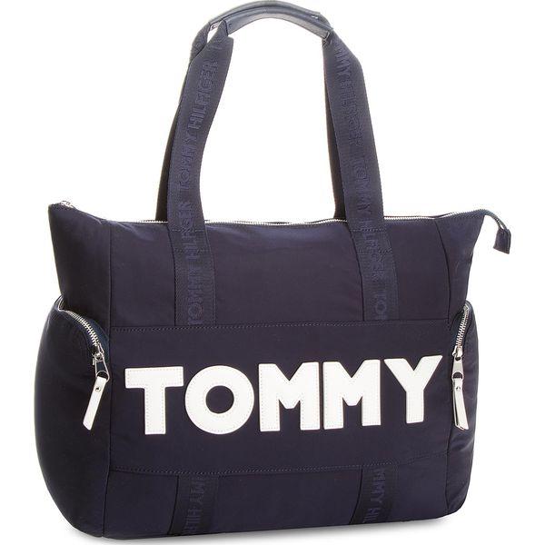 579dd3385bac9 Torebka TOMMY HILFIGER - Tommy Nylon Tote AW0AW04957 413 - Torebki ...