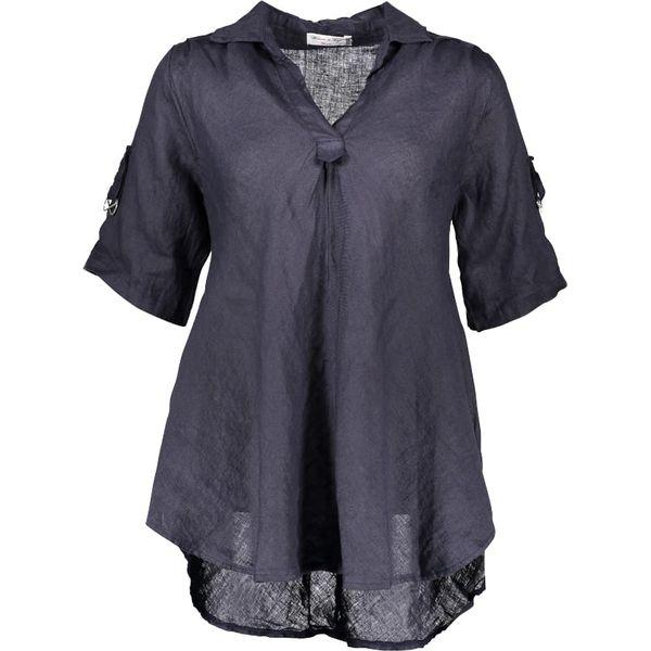 1dc864052e Lniana tunika w kolorze granatowym - Niebieskie tuniki damskie marki ...