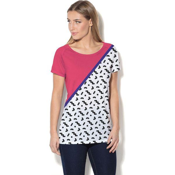 24570f5f36 Colour Pleasure Koszulka damska CP-034 25 różowo-biało-czarna r. XL-XXL -  Bluzki damskie marki Colour Pleasure. Za 70.35 zł. - Bluzki damskie -  Bluzki i ...