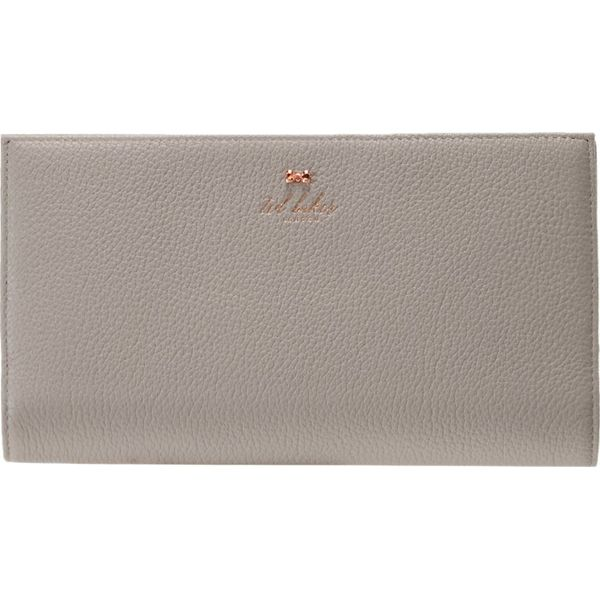 c7b80643de69f Ted Baker KAYY BOW DETAIL TRAVEL WALLET Portfel charcoal - Portfele ...