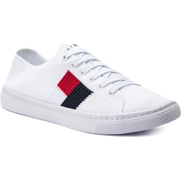 b5e35d67c4b1a Tenisówki TOMMY HILFIGER - Knitted Flag Lightweight Sneaker ...