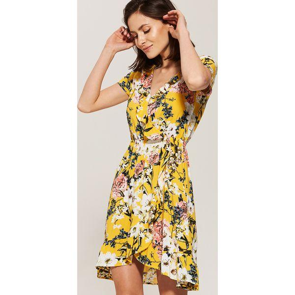 c497cb6156 Sukienka z falbanką - Żółty - Żółte kombinezony damskie marki House ...