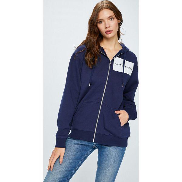 5f0701f8940ad Calvin Klein Jeans - Bluza Institutional Box Logo - Bluzy damskie ...