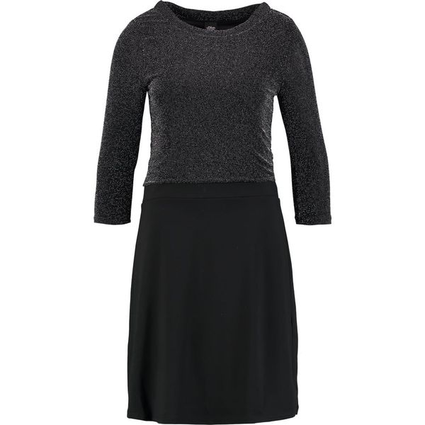 4a7cc0560318 s.Oliver BLACK LABEL Sukienka z dżerseju glamour black - Czarne ...