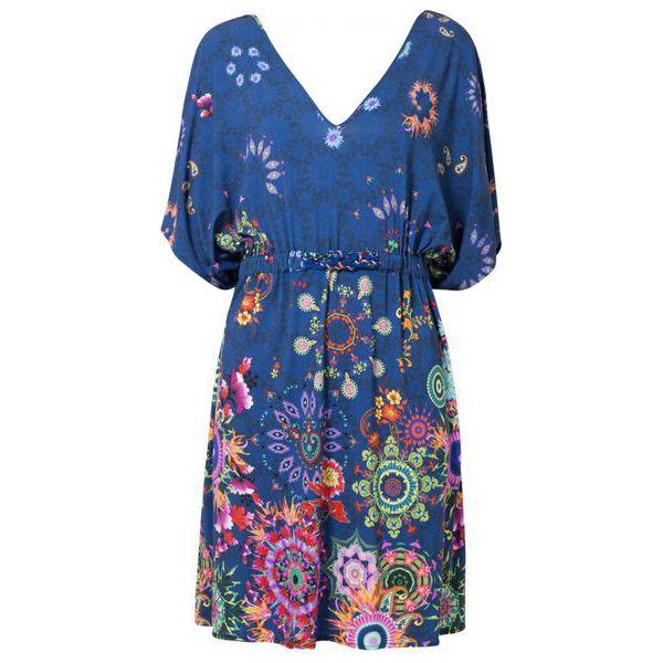 a70f9a04 Desigual sukienka damska Vest Harvir M ciemnoniebieska