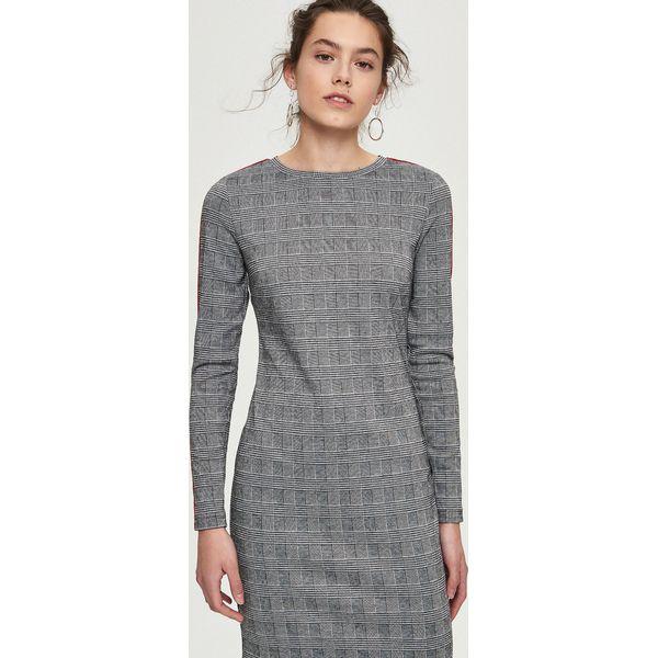 820e3ba21a Ołówkowa sukienka z lampasami - Wielobarwn - Szare sukienki damskie ...