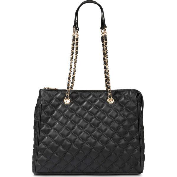 393062e480d07 Torebka shopper pikowana bonprix czarny - złoty kolor - Shopper bag ...