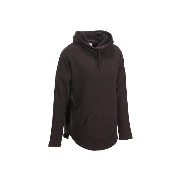 d661f4eccacdd6 Bluza polarowa COCOON - Czarne bluzy damskie DOMYOS, z polaru. W ...