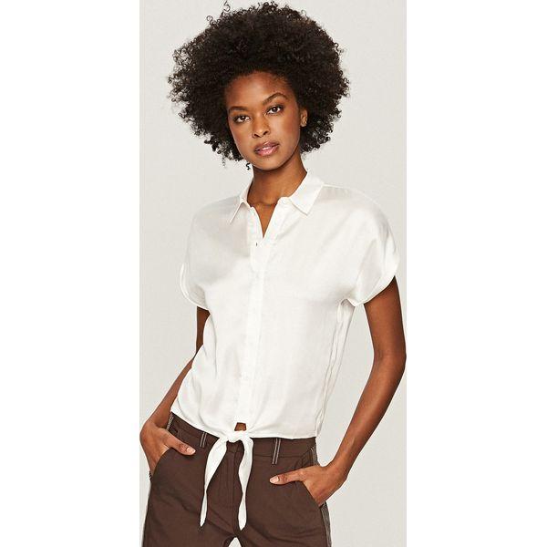 Koszula z wiązaniem na dole - Kremowy - Białe koszule damskie marki ... 7f8714ee87