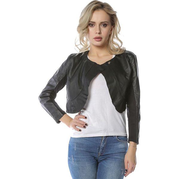 167cf09ddb0de Skórzana kurtka w kolorze czarnym - Czarne kurtki damskie marki ...