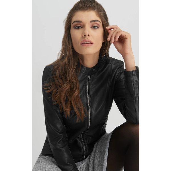 3a1eeb3f1ff9d Kurtka z eko-skóry - Czarne kurtki damskie marki Orsay, z jeansu. Za ...