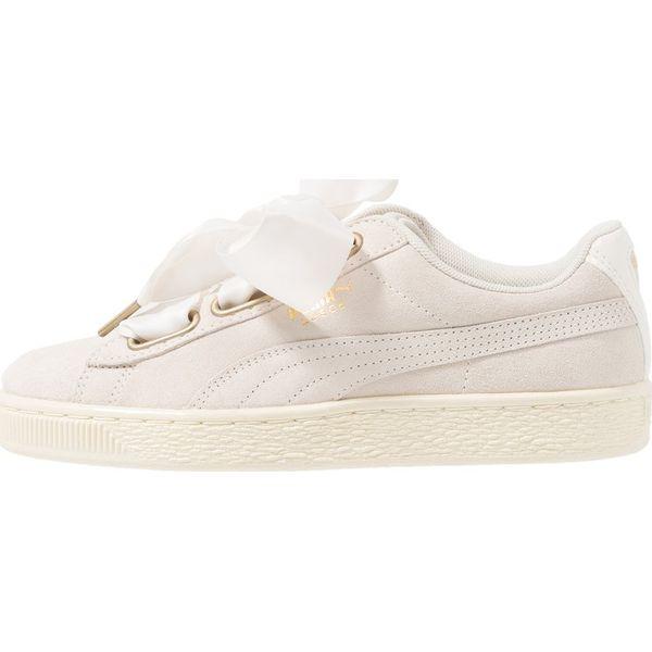 9b81cb43 Puma SUEDE HEART SATIN Sneakersy niskie whisper white/gold - Obuwie ...