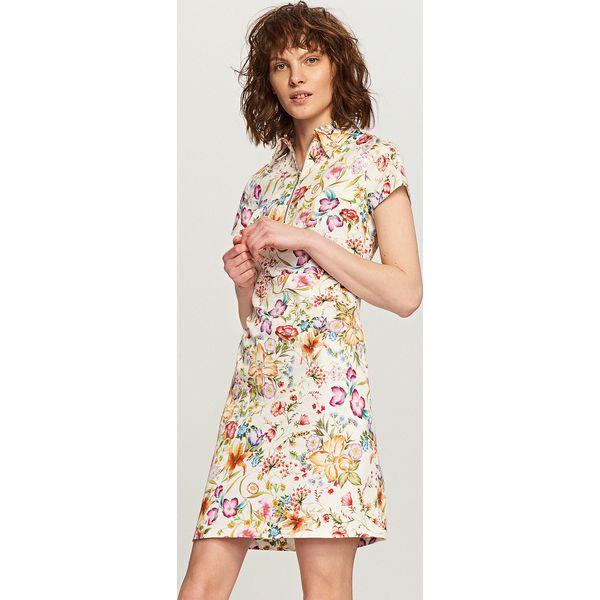 e536901f23 Sukienka w kwiaty - Kremowy - Kombinezony damskie marki Reserved. W ...