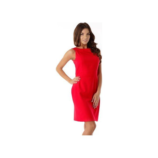ff320894a6 Dopasowana sukienka odcięta w pasie czerwona ED06-1 - Sukienki ...