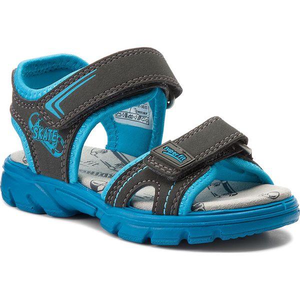 Sandały SUPERFIT - 2-00181-06 M Stone Kombi - Szare sandały ... b626b34494