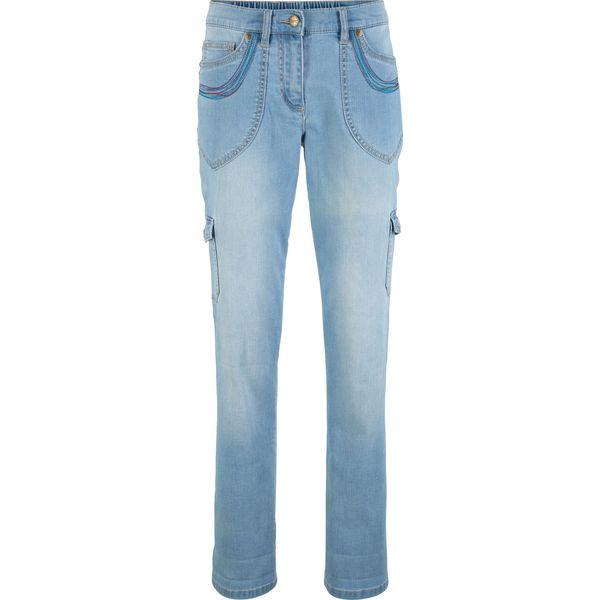 2dc277b6c56f4c Niebieskie jeansy damskie ze sklepu BonPrix.pl - Kolekcja lato 2019 - Butik  - Modne ubrania, buty, dodatki dla kobiet i dzieci