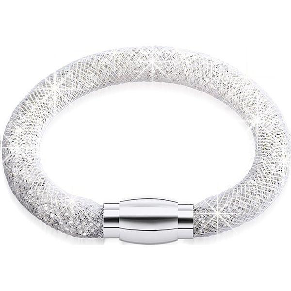 d9d7f1e004660b Bransoletka ze szklanymi kryształkami - Szare bransoletki damskie ...