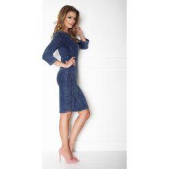 403dee86e9 W Klasyczna prosta sukienka jeans a167-2. Sukienki damskie marki La   Aurora. W