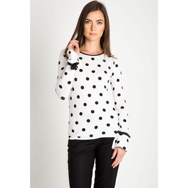 cca24269f08054 Biała bluzka w czarne groszki QUIOSQUE - Bluzki damskie QUIOSQUE. W ...