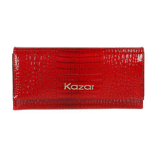 95e85dd84710e Skórzany portfel w kolorze czerwonym - (S)19 x (W)9 cm - Portfele ...