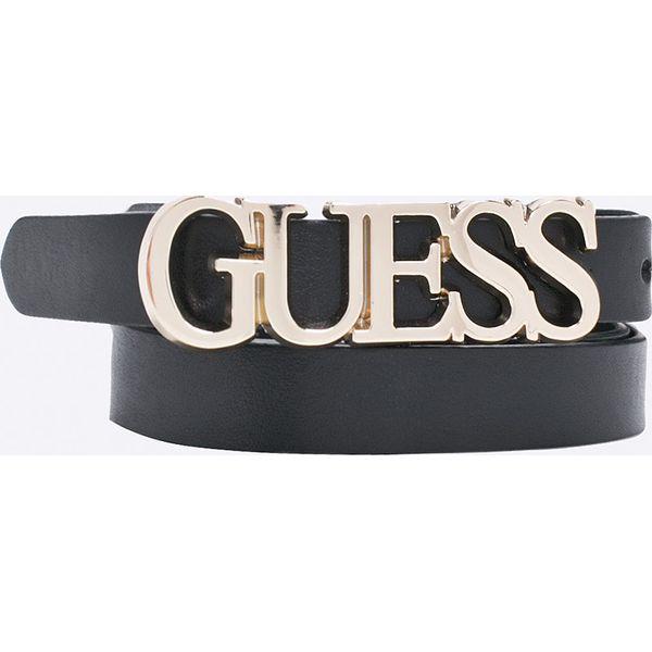 44177e3a8f874 Guess Jeans - Pasek - Czarne paski damskie marki Guess Jeans