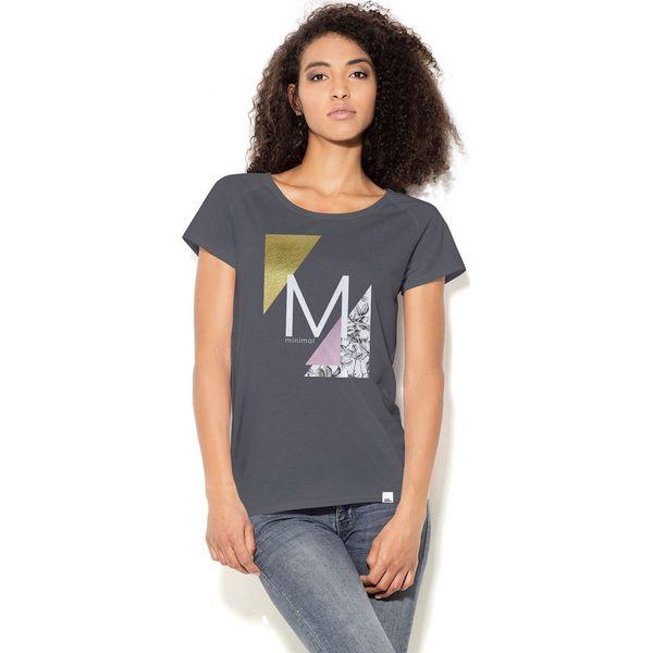 78a77e3a01 Colour Pleasure Koszulka damska CP-034 38 szaro-biało-żółto-różowa r.  XL-XXL - Bluzki damskie marki Colour Pleasure. Za 70.35 zł.