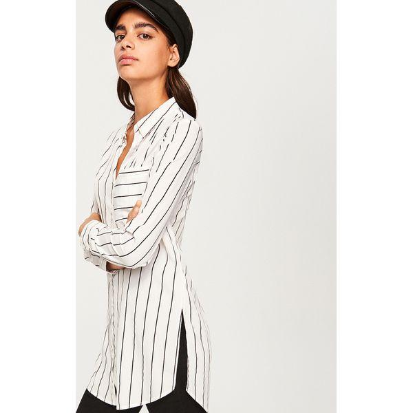 14cdafd05d2ea8 Długa koszula - Biały - Koszule damskie Reserved. W wyprzedaży za ...