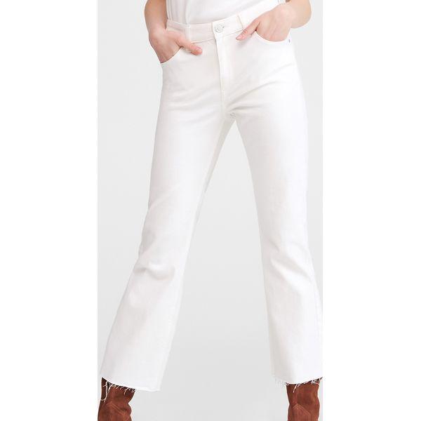 9b083b6b Jeansy flare - Biały