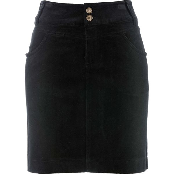 620eb5c0 Spódnica sztruksowa bonprix czarny