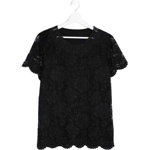 adc795c120 Czarna Bluzka Important - Czarne bluzki damskie marki Born2be