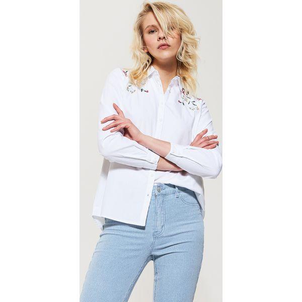 Koszule Damskie Z Haftem Biały Marki Białe Bawełniana Koszula xshCtQrd