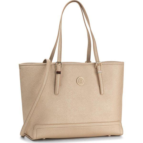ba5e15fa21faf Torebka TOMMY HILFIGER - Honey Med Tote AW0AW04996 901 - Shopper bag ...
