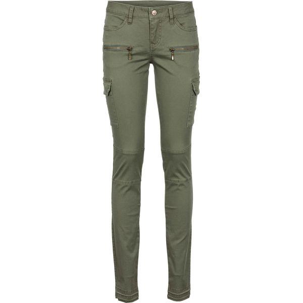 1bba672d4813ea Spodnie bojówki Skinny bonprix oliwkowy - Rurki damskie bonprix. Za ...