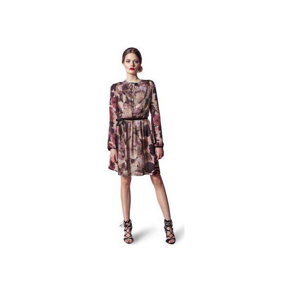 5390efc24b Sukienka z wzorzystego materiału wiązana pod szyją - Sukienki ...