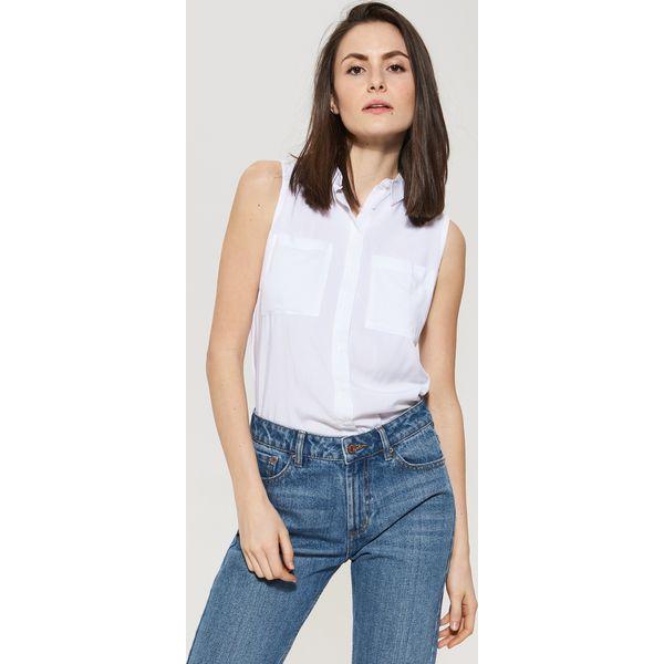 Ogromny Bluzka koszulowa utility - Biały - Białe bluzki damskie marki VJ32