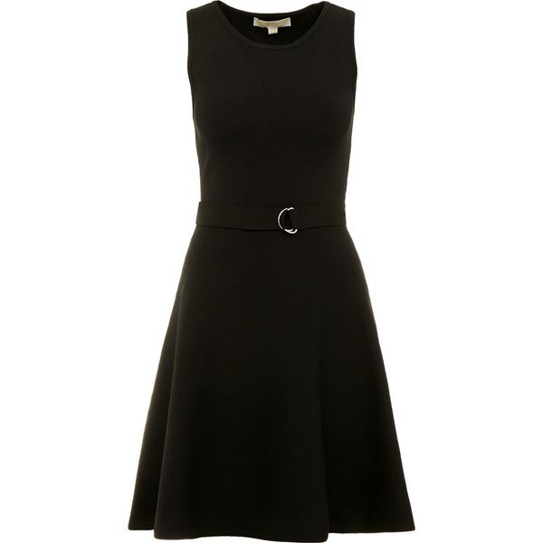 0ff087aed4a8e MICHAEL Michael Kors Sukienka dzianinowa black - Czarne sukienki damskie  marki MICHAEL Michael Kors