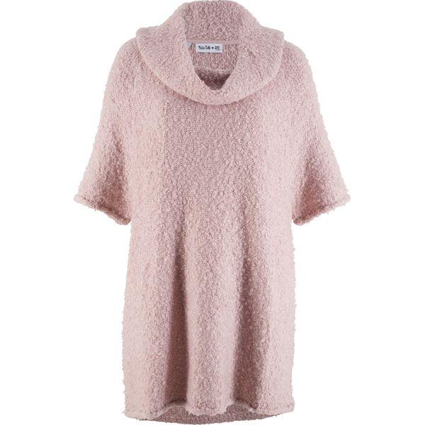 71ec4199 Sweter oversize z rękawami 3/4, z kolekcji Maite Kelly bonprix matowy  jasnoróżowy