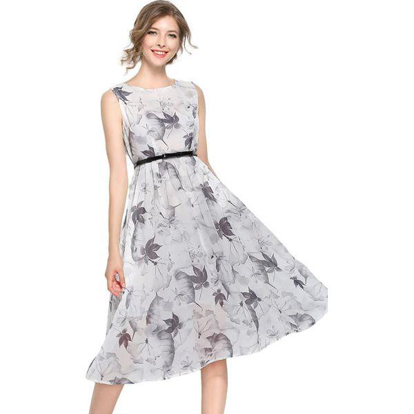 7e1cb9c1bd Sukienka w kolorze białym - Białe sukienki damskie marki Kaimilan