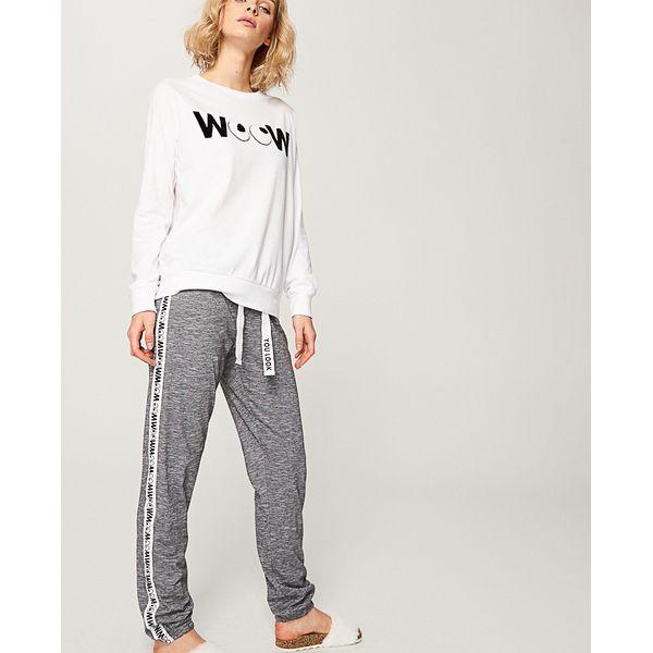7baa8a1eae3564 Piżama z nadrukiem - Kremowy - Białe piżamy damskie Reserved, z ...