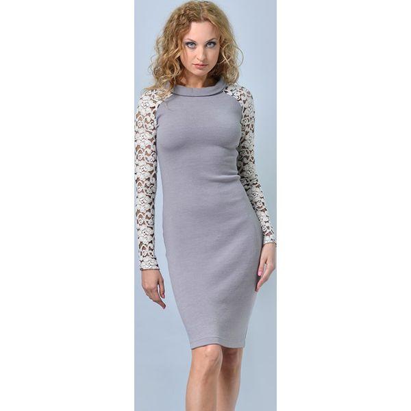 5022896150790c Sukienka w kolorze szarym - Szare sukienki damskie marki Lila Kass ...