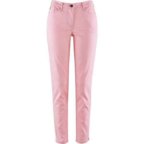 e70eda56e3c5 Wygodne spodnie SKINNY bonprix jasnoróżowy pudrowy - Czerwone rurki ...